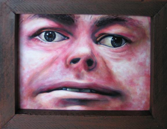 Camille Claudel, acrylique sur paneau 6 x 8''
