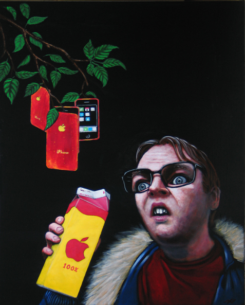 Newton, acrylique sur toile 14 x 18''
