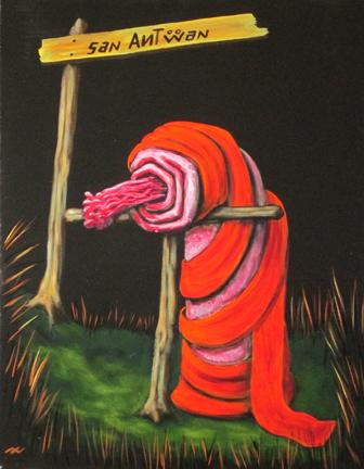 St-Antoine, acrylique sur toile 14 x 18