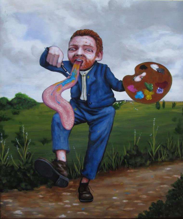 """Vincent, 20 x 16"""" acrylique sur panneau"""