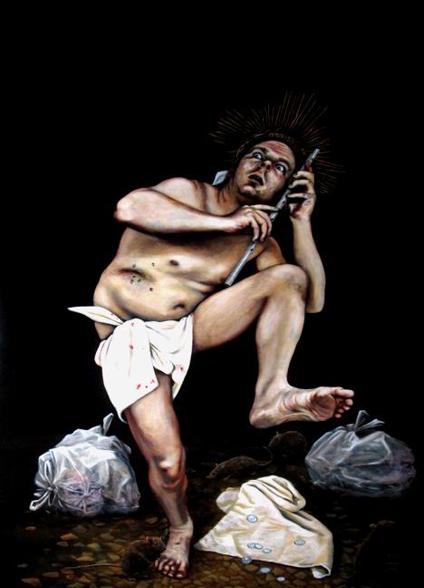 Le flûtiste de Nazareth, 48 x 36/